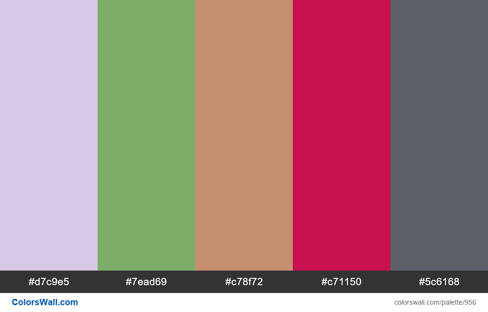 #colorswall random #453 colors palette - #956