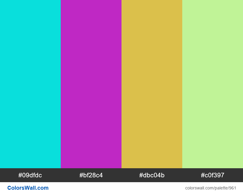 #colorswall random #457 colors palette - #961