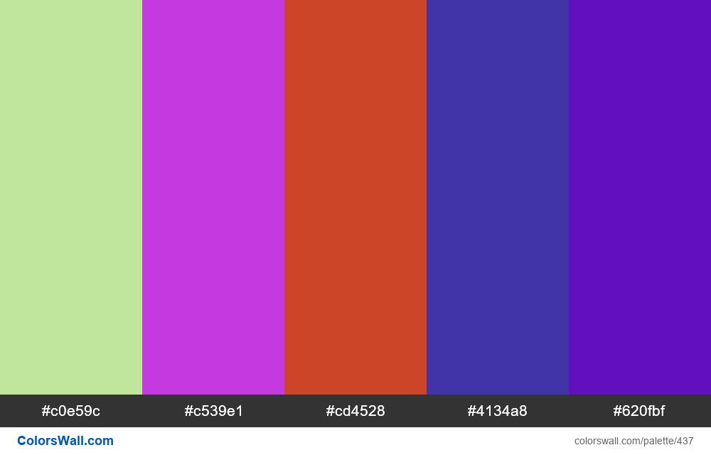 #colorswall random #46 colors palette - #437