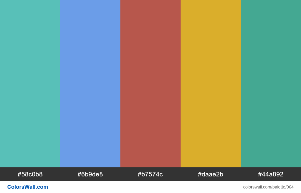 #colorswall random #460 colors palette - #964
