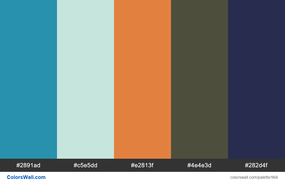 #colorswall random #462 colors palette - #966
