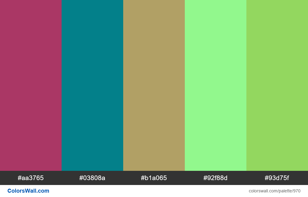 #colorswall random #466 colors palette - #970