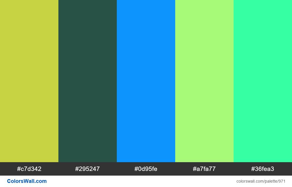 #colorswall random #467 colors palette - #971