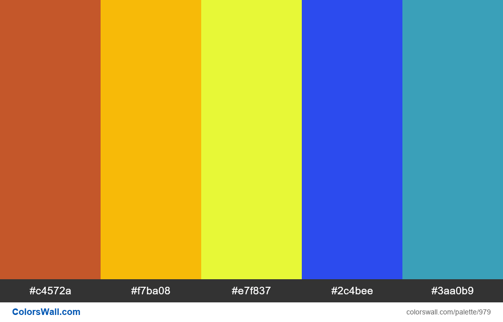 #colorswall random #475 colors palette - #979