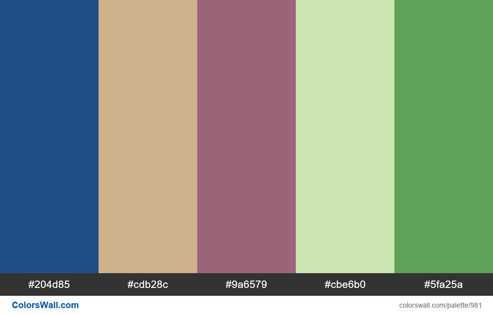 #colorswall random #477 colors palette - #981