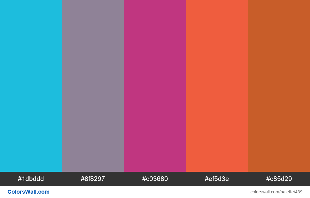 #colorswall random #48 colors palette - #439