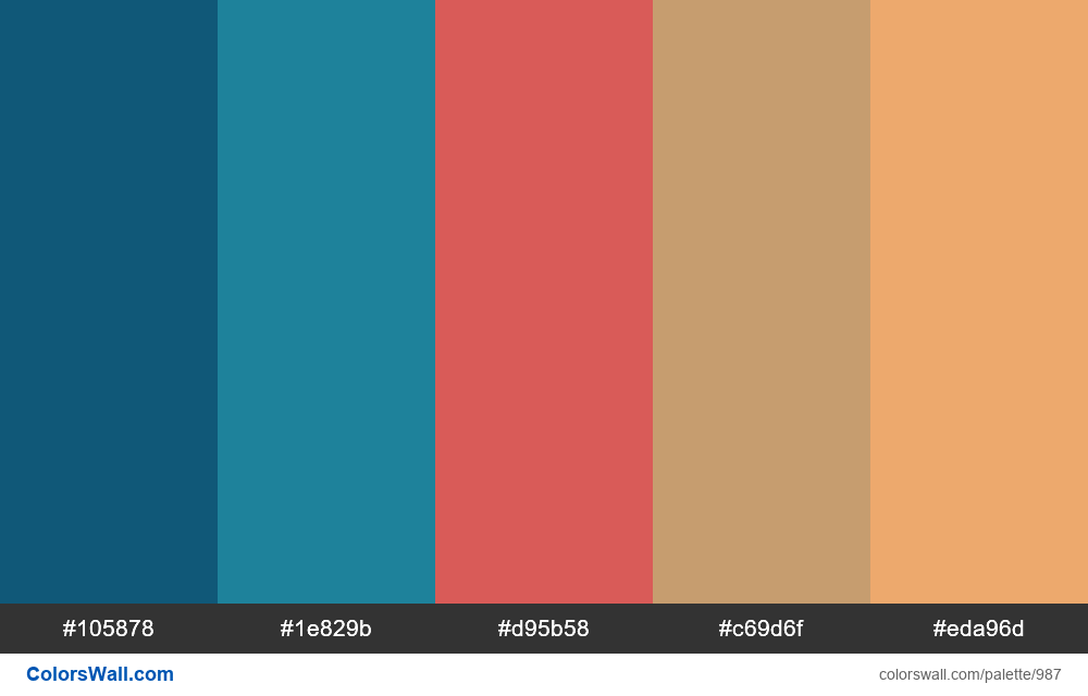 #colorswall random #483 colors palette - #987