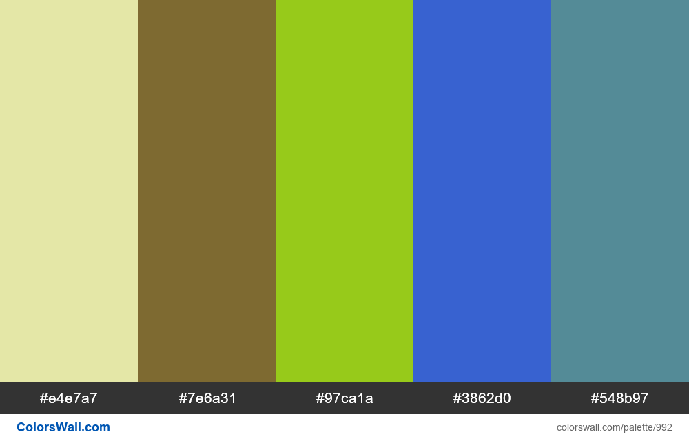 #colorswall random #488 colors palette - #992