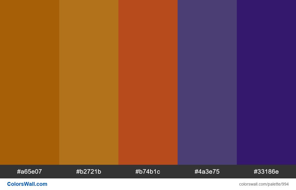 #colorswall random #490 colors palette - #994