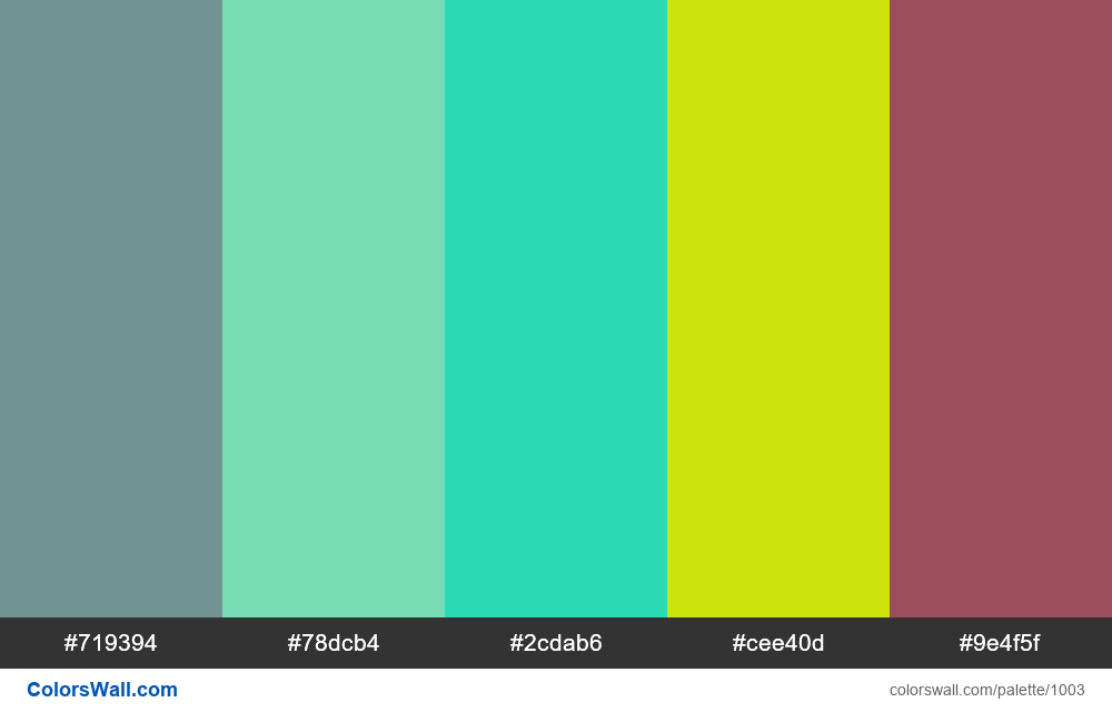 #colorswall random #498 colors palette - #1003