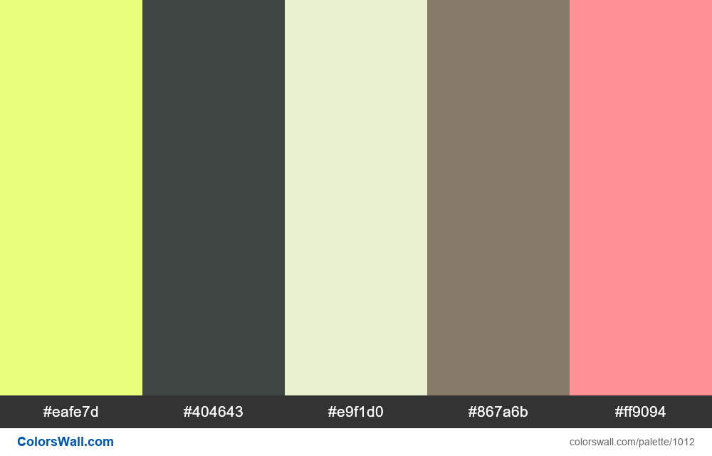 #colorswall random #506 colors palette - #1012