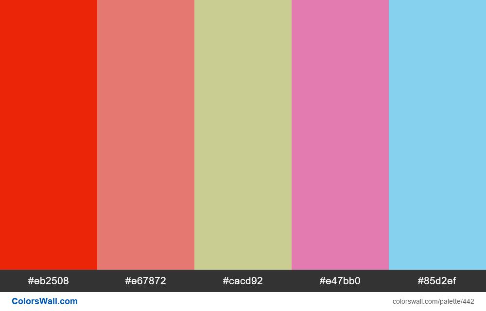 #colorswall random #51 colors palette - #442