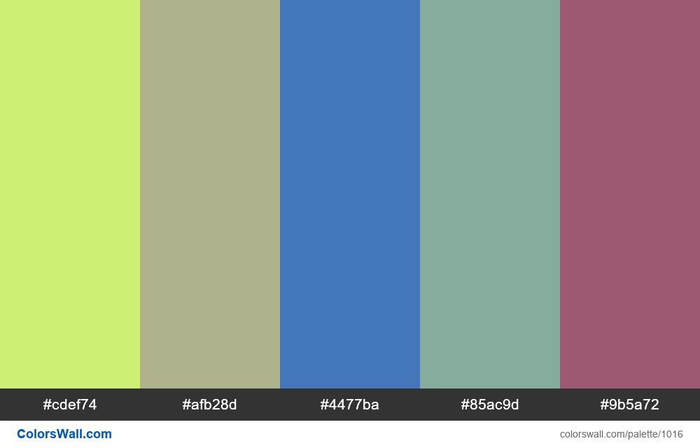 #colorswall random #510 colors palette - #1016