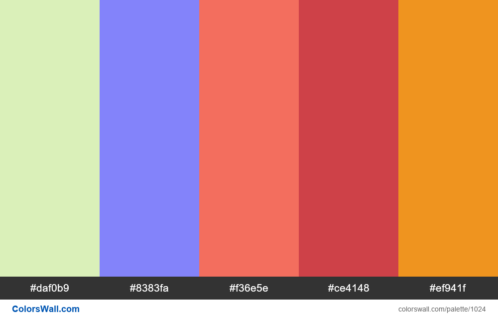#colorswall random #517 colors palette - #1024