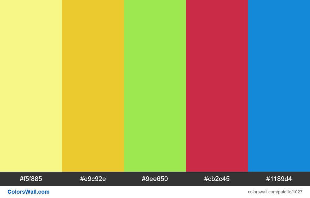 #colorswall random #520 colors palette - #1027