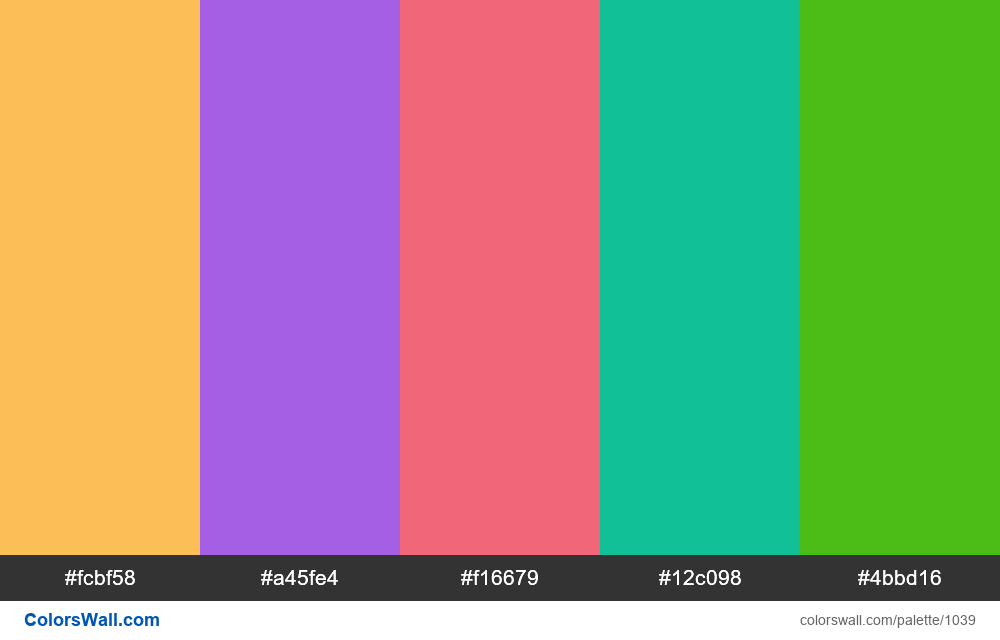#colorswall random #522 colors palette - #1039