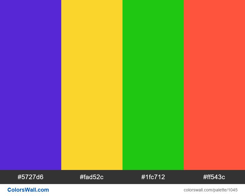 #colorswall random #528 colors palette - #1045