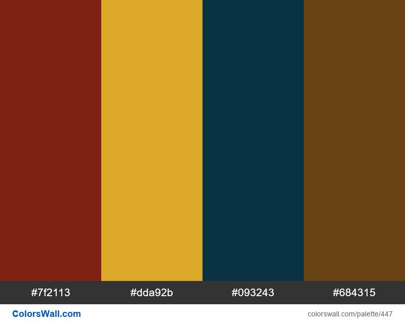 #colorswall random #54 colors palette - #447