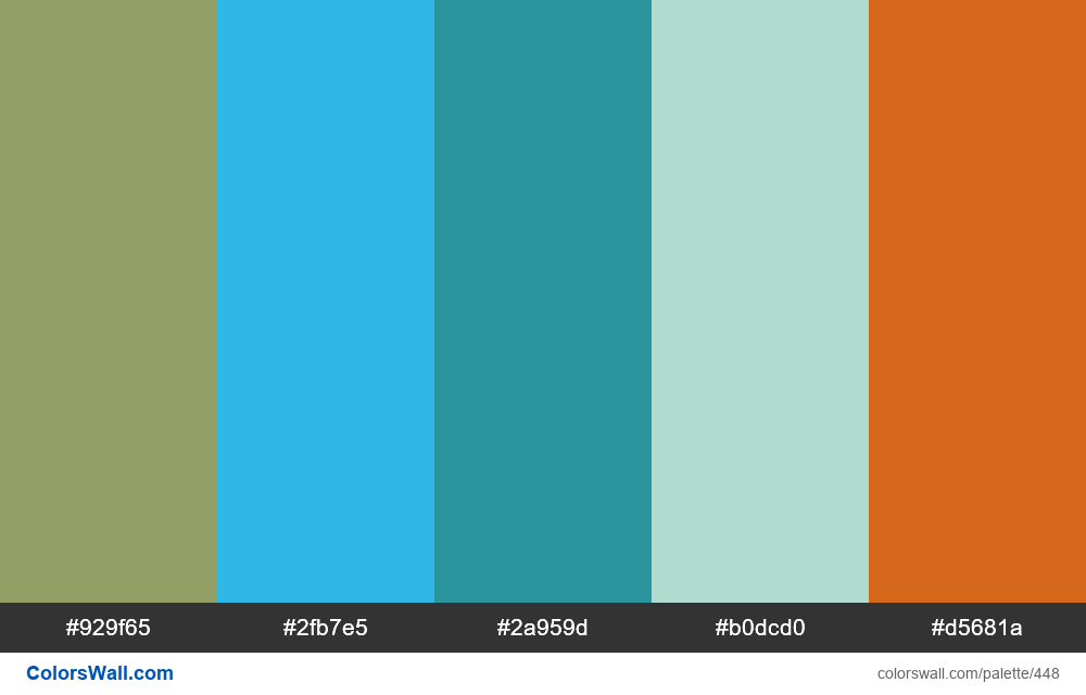 #colorswall random #55 colors palette - #448