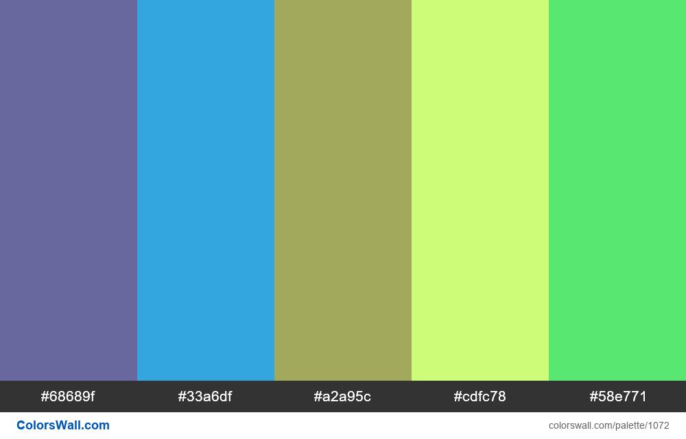 #colorswall random #552 colors palette - #1072