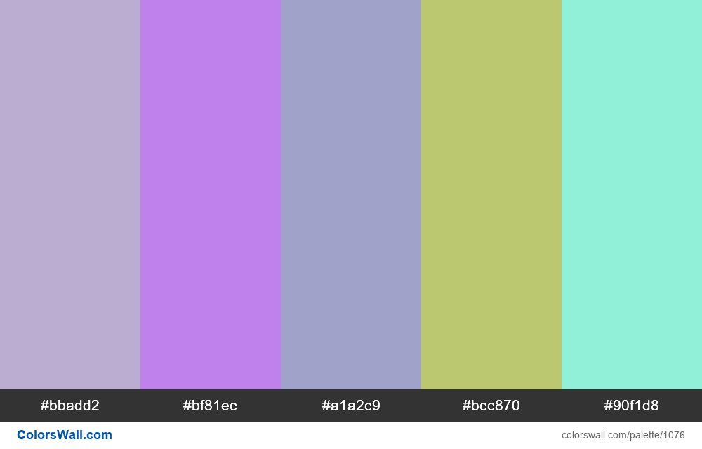 #colorswall random #556 colors palette - #1076