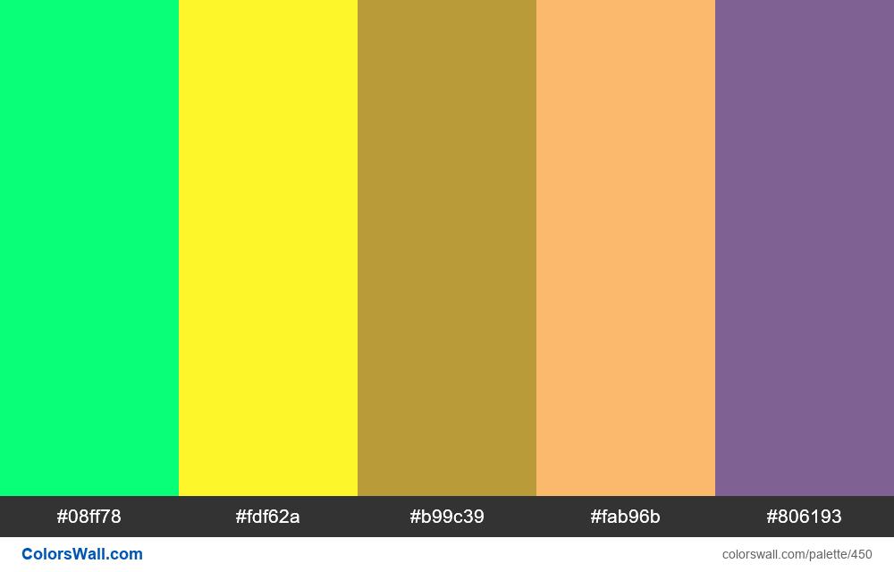 #colorswall random #57 colors palette - #450