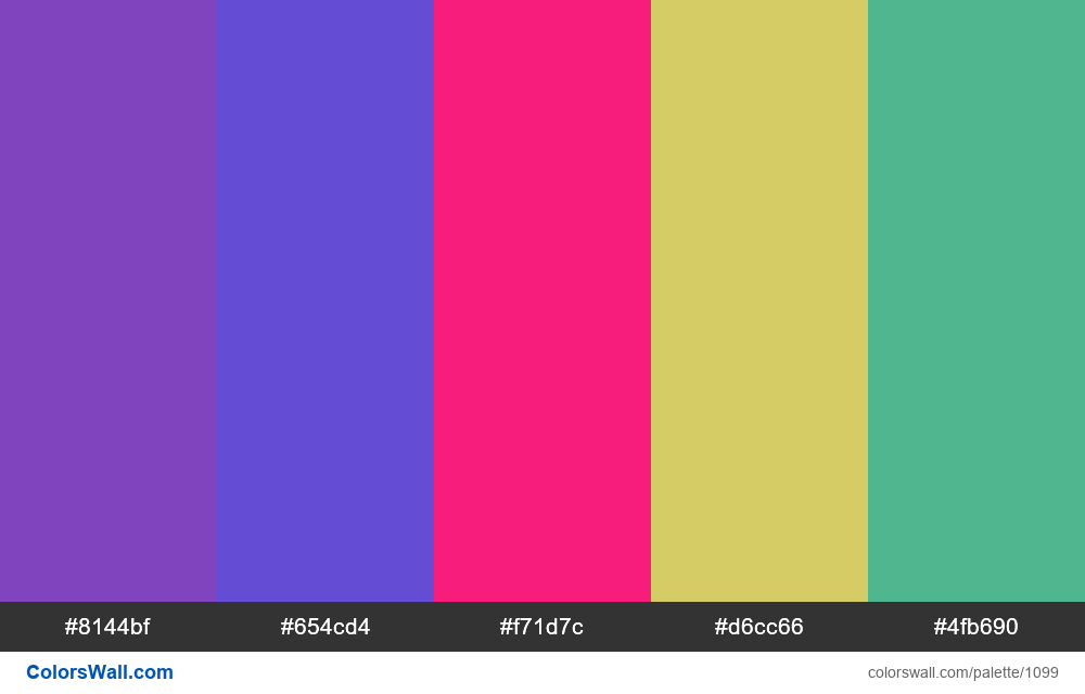 #colorswall random #579 colors palette - #1099