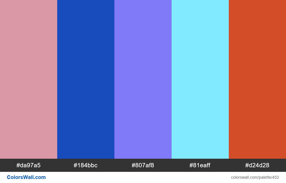 #colorswall random #59 colors palette - #452