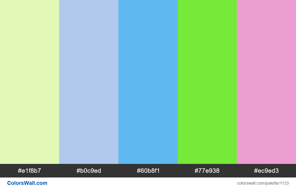 #colorswall random #603 colors palette - #1123