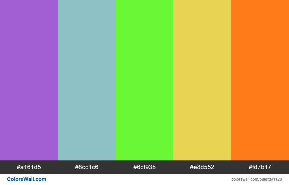 #colorswall random #608 colors palette - #1128