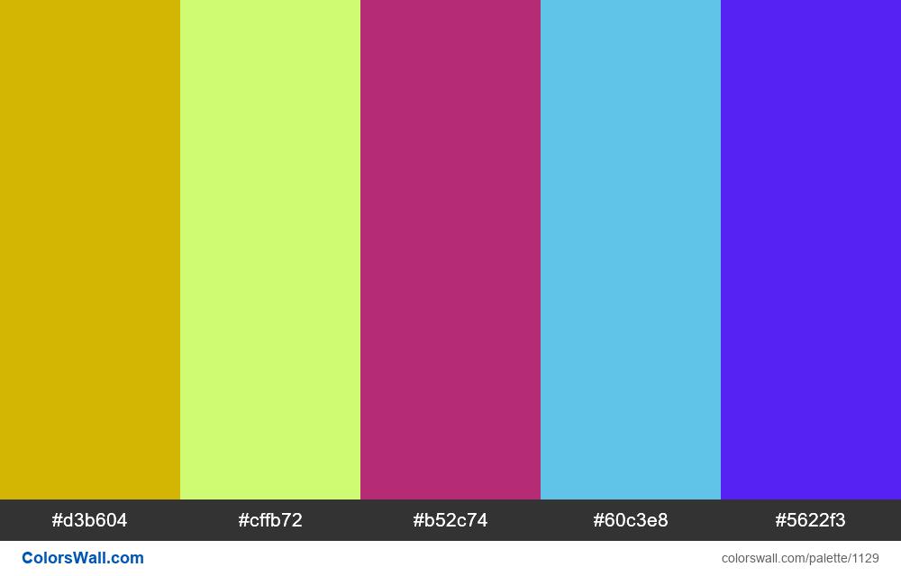 #colorswall random #609 colors palette - #1129