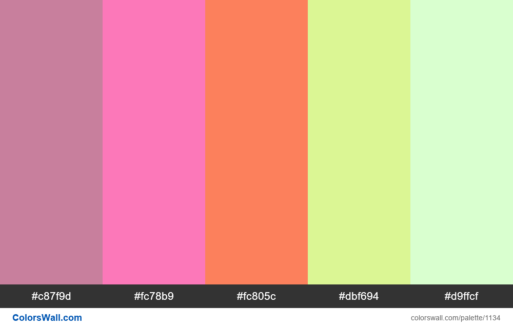 #colorswall random #614 colors palette - #1134
