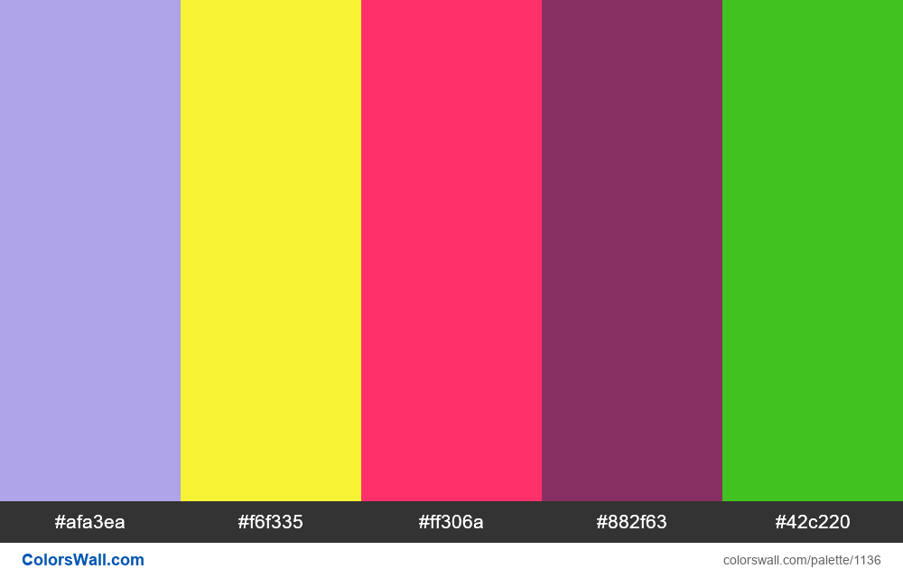 #colorswall random #616 colors palette - #1136