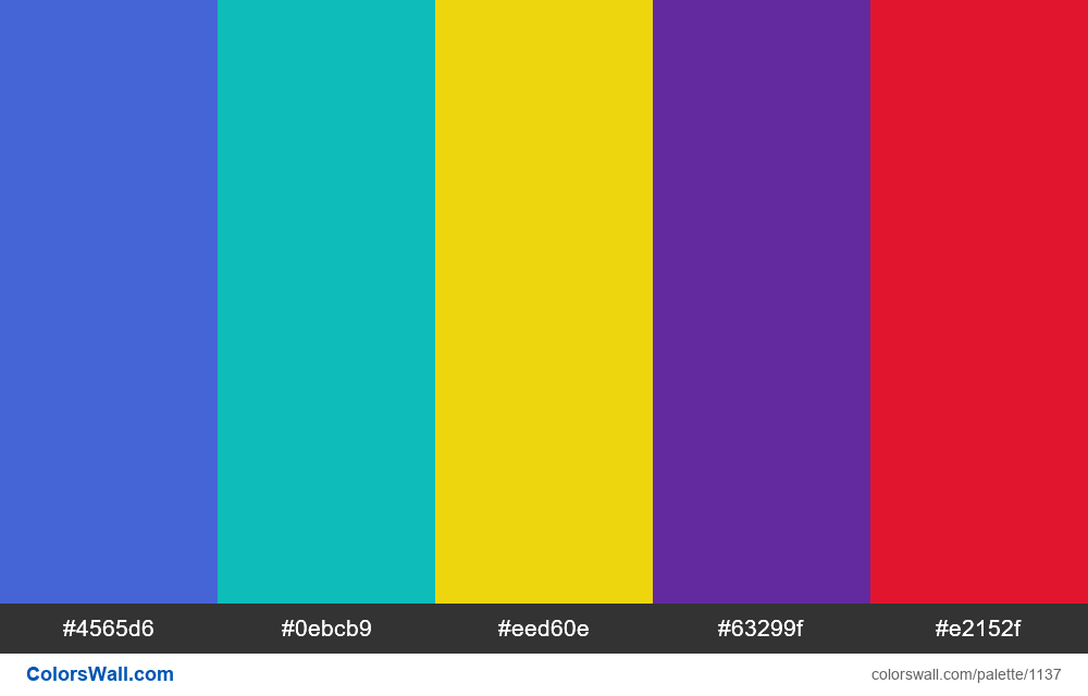 #colorswall random #617 colors palette - #1137
