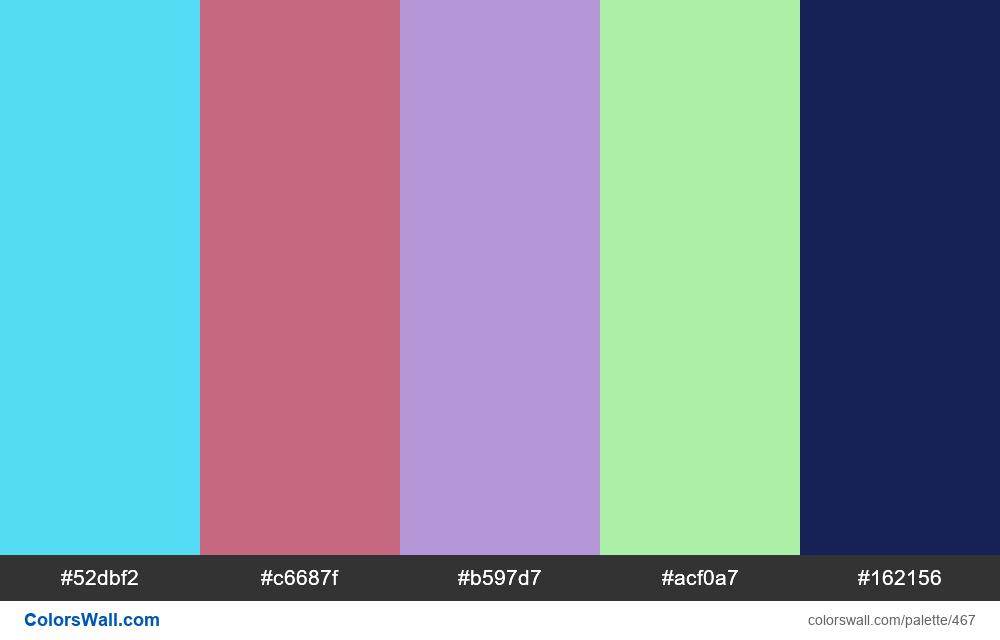 #colorswall random #62 colors palette - #467