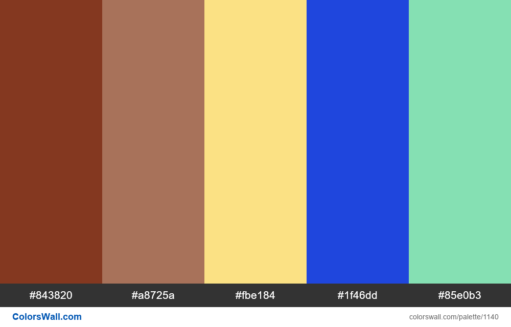 #colorswall random #621 colors palette - #1140