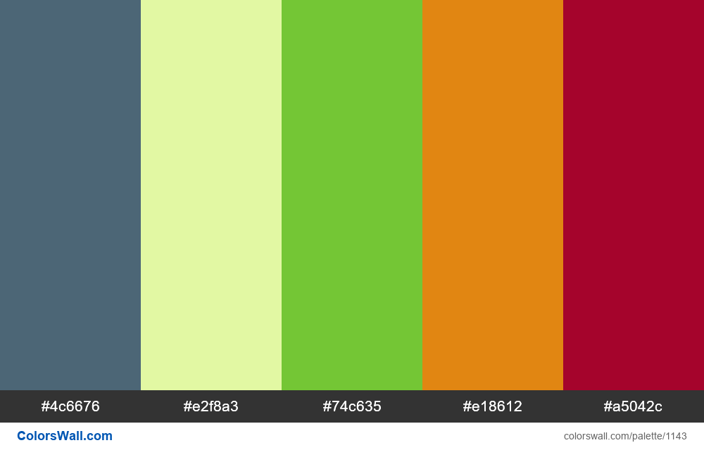 #colorswall random #624 colors palette - #1143