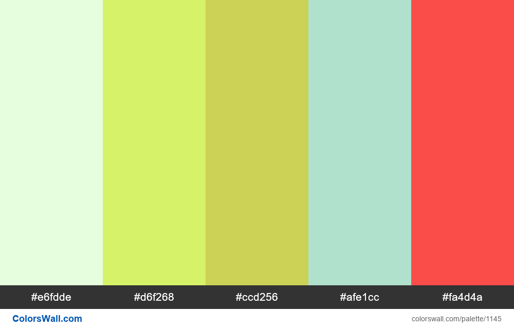 #colorswall random #626 colors palette - #1145