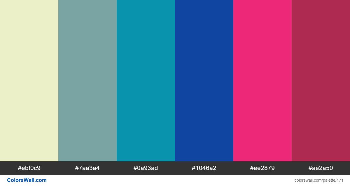 #colorswall random #63 colors palette - #471