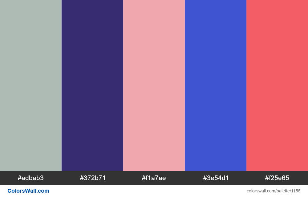 #colorswall random #636 colors palette - #1155