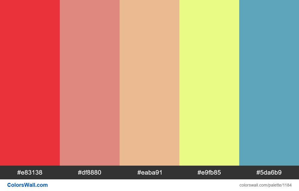 #colorswall random #659 colors palette - #1184