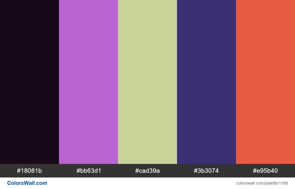 #colorswall random #663 colors palette - #1188