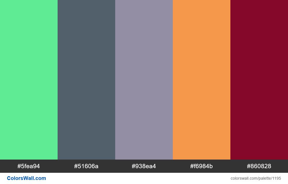 #colorswall random #670 colors palette - #1195