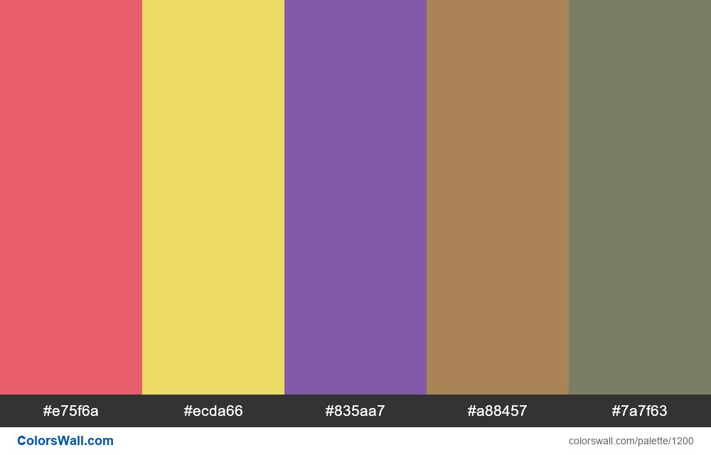 #colorswall random #675 colors palette - #1200