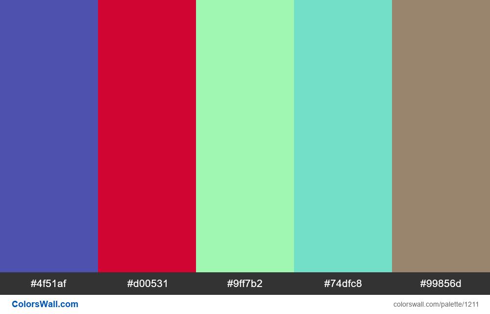 #colorswall random #685 colors palette - #1211