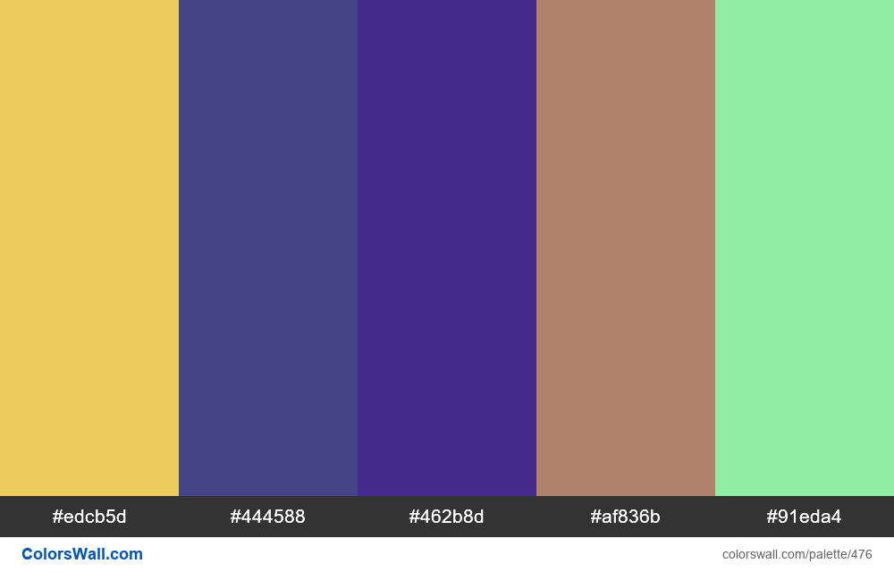 #colorswall random #69 colors palette - #476