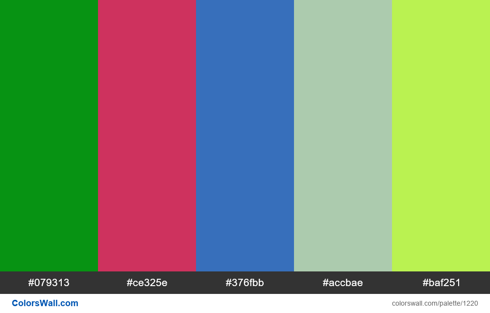#colorswall random #694 colors palette - #1220