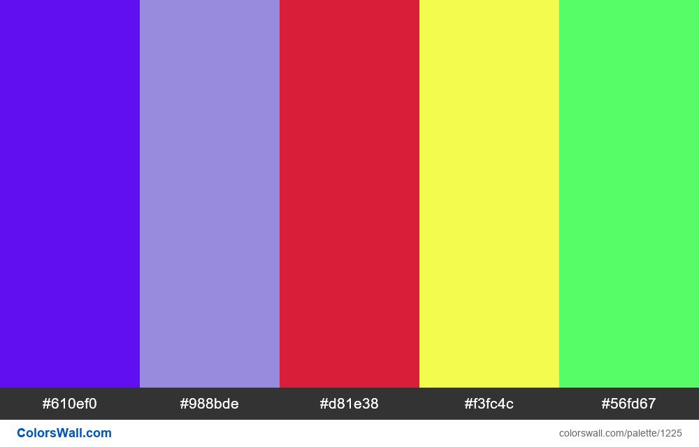 #colorswall random #698 colors palette - #1225