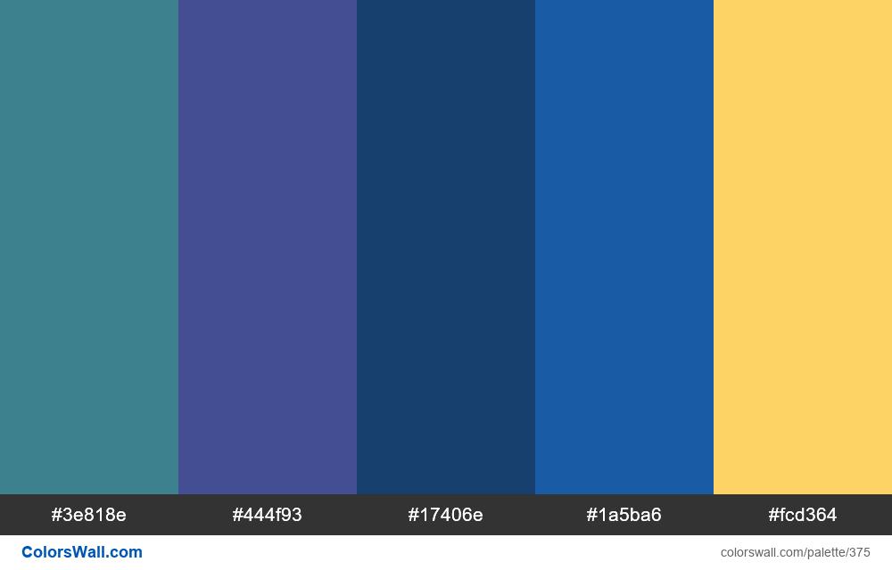 #colorswall random #7 colors palette - #375