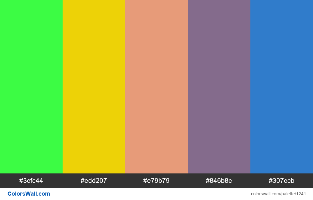 #colorswall random #714 colors palette - #1241